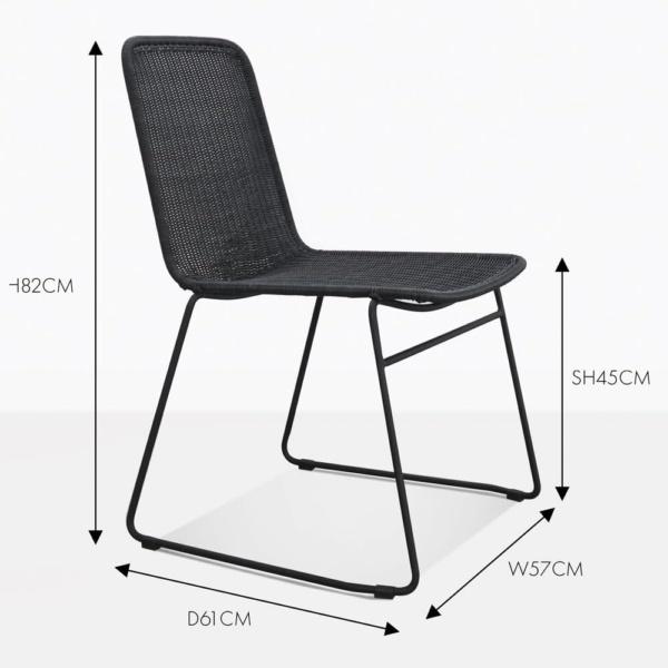 Olivia black wicker dining chair
