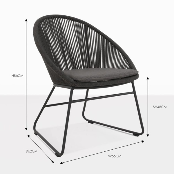 toga black wicker dining chair