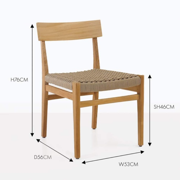 Tokio teak outdoor dining chair