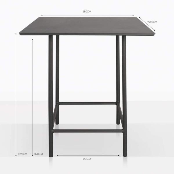 Urban counter aluminium table