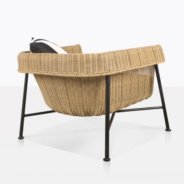 rear view of yoji outdoor wicker relaxing chair