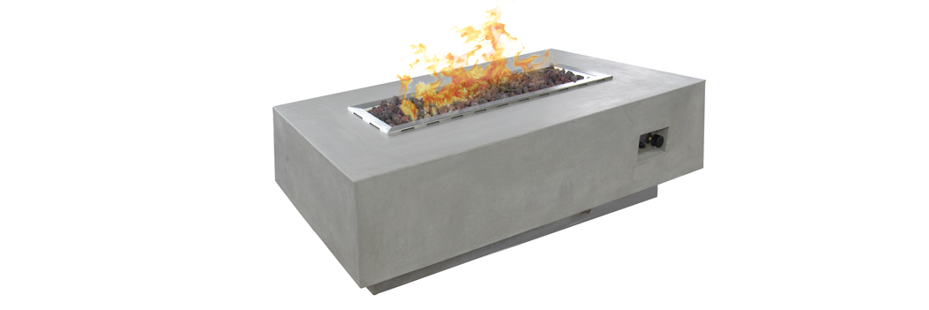 Design Warehouse Concrete Rectangle Fire Pit
