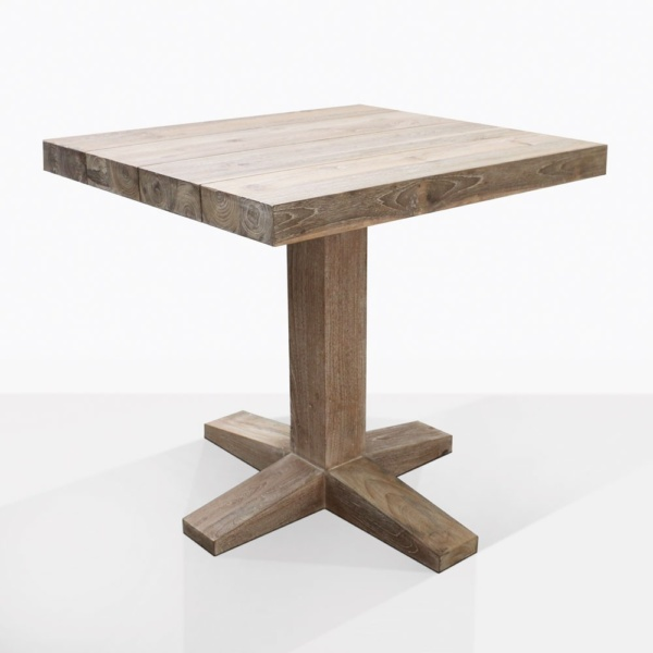 Cube Teak Outdoor Dining Table For Two