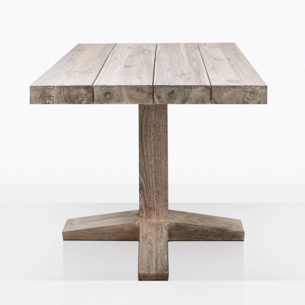 Cube Teak Pedestal Dining Table