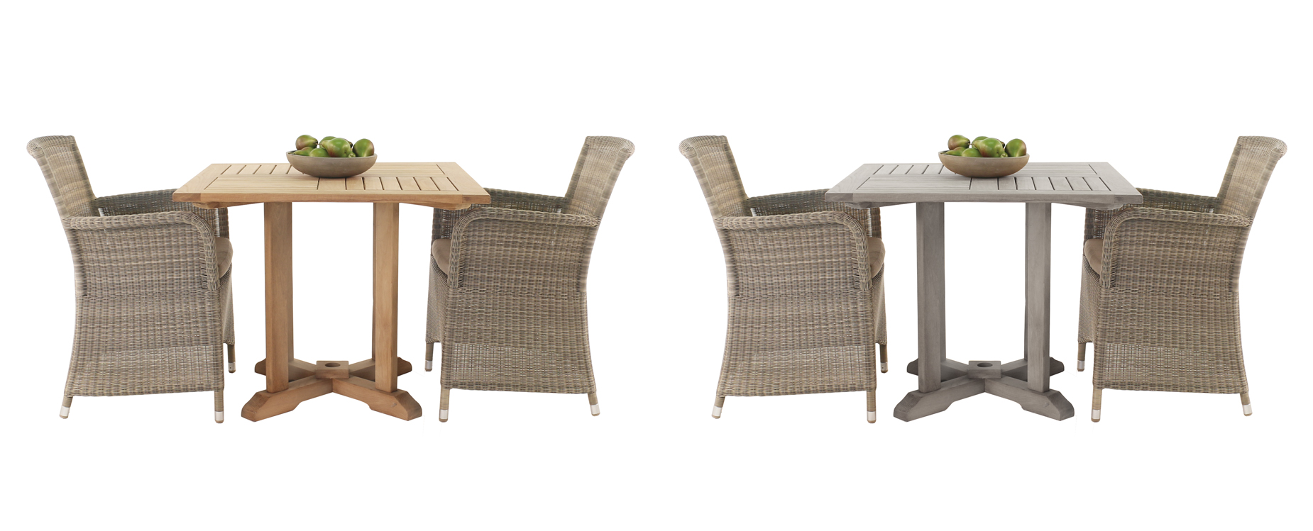 Teak Square Pedestal Dining Sets