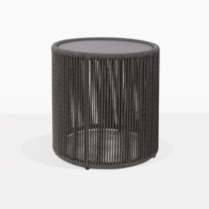 Benni Outdoor Rope Round Accent Table Large