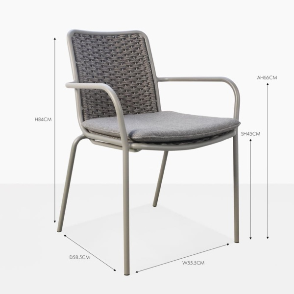 Kerri rope dining side chair