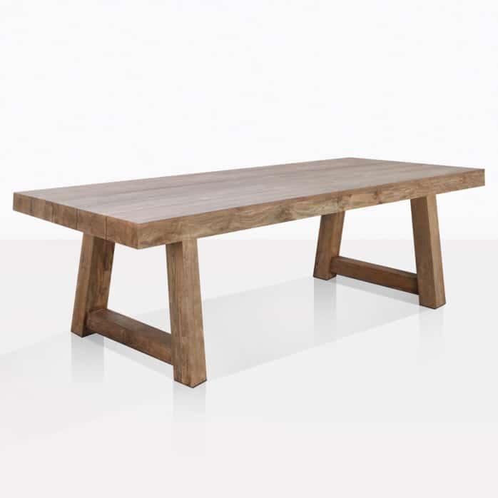 hunter reclaimed teak trestle table