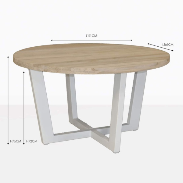 jimmy round dining table white