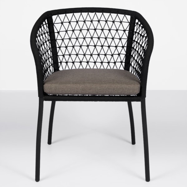 front lola outdoor rope dinig chair
