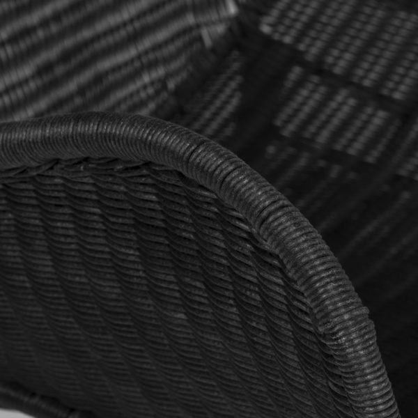 Nairobi black wicker close up - black wicker chair