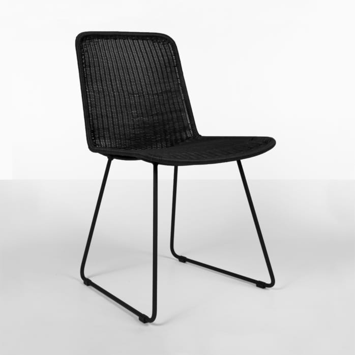 Olive Wicker Dining Side Chair