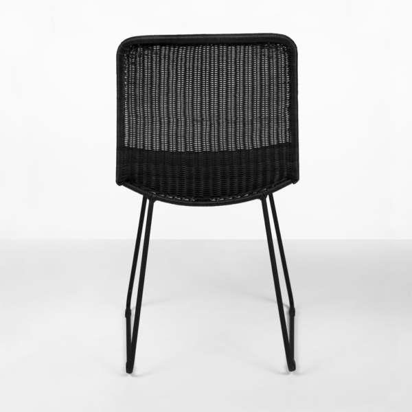 Olive Black wicker dining chairs - outdoor furniture