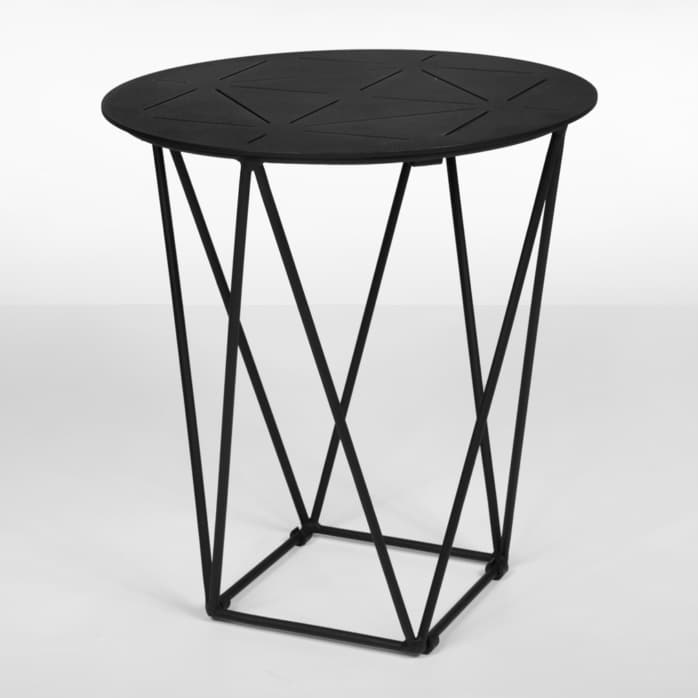 zag outdoor side table (black) copy