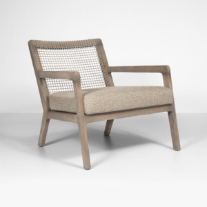 gazzoni teak and rope chair