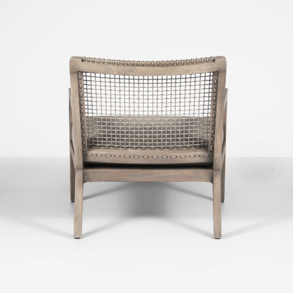 gazzoni teak and rope relaxing chair - rear