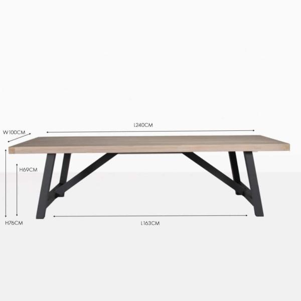 Hudson reclaimed teak dining table