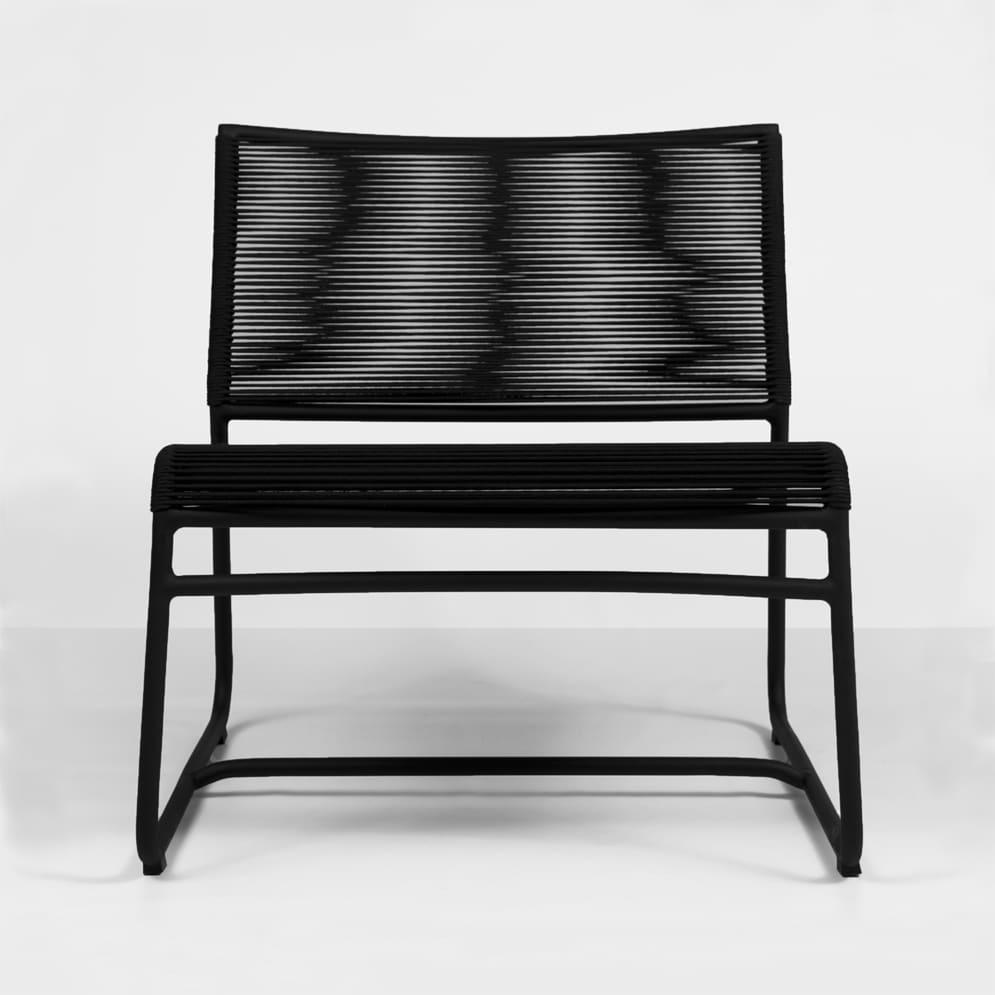 Komodo Black Outdoor Relaxing Chair Design Warehouse Nz
