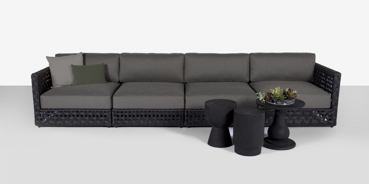 black outdoor sectional - logan