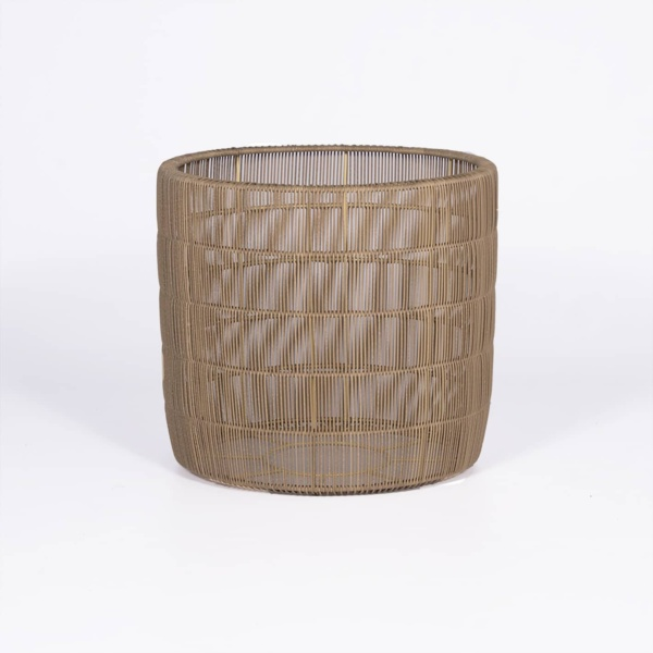 origami wicker planter - outdoor living