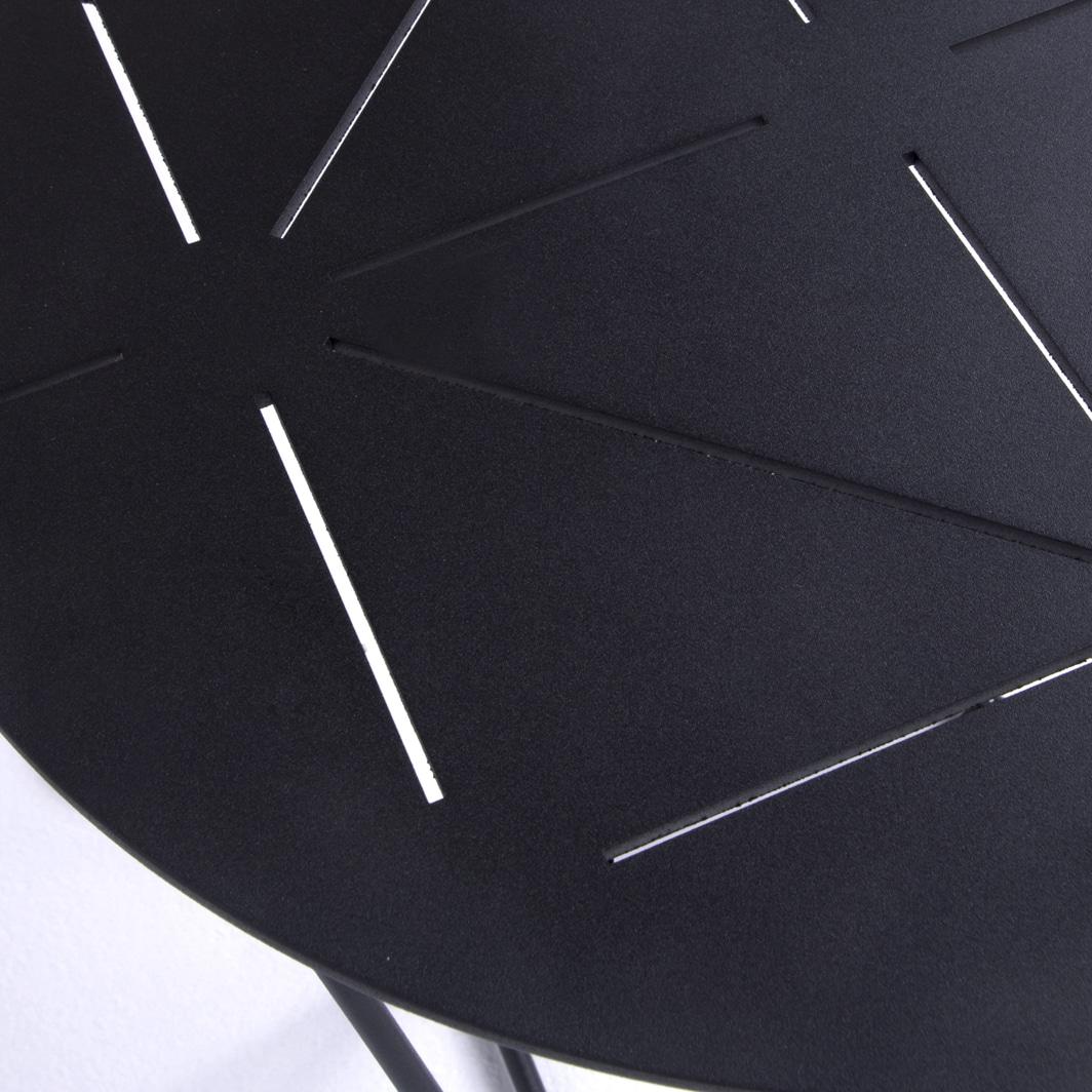 Zig Zag Outdoor Aluminium End Table In Black Design