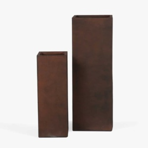 Chino Outdoor Concrete Planter Set Copper