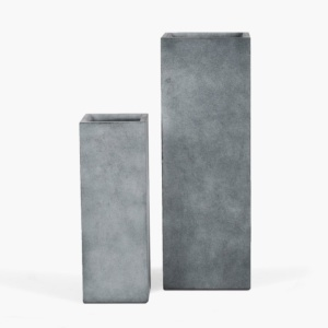 Chino Outdoor Concrete Planter Set Whitewash