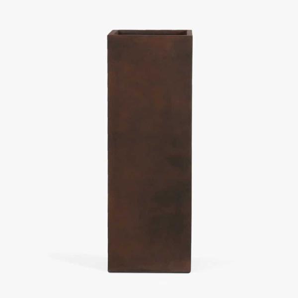 Tall Chino Outdoor Concrete Planter Copper