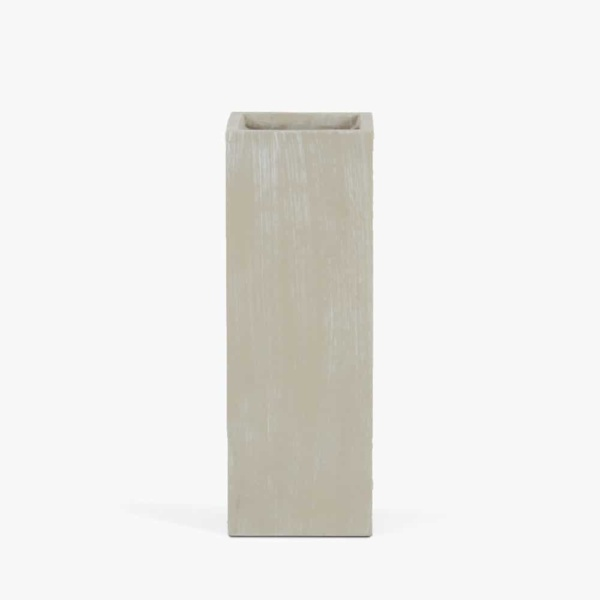 Chino Outdoor Concrete Planter Low Antique White