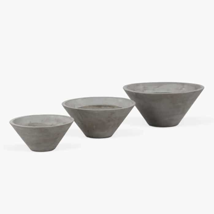 Clove Concrete Outdoor Planter Set