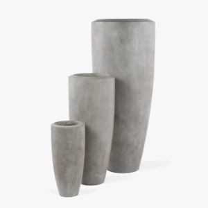 Jimbo Concrete Outdoor Planter Set