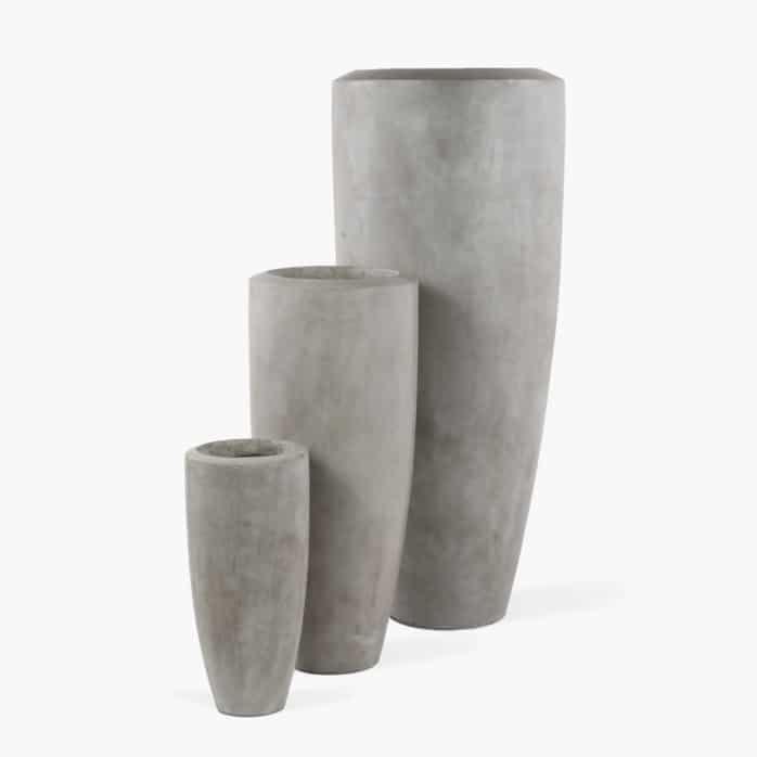 Jimbo Concrete Outdoor Planter Set