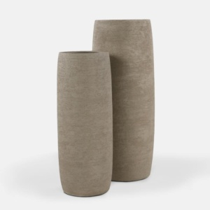 Santorini Concrete Outdoor Planter Set in Light