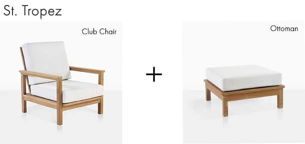 St. Tropez Club Chair + Ottoman
