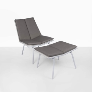 nordic outdoor chair and ottoman