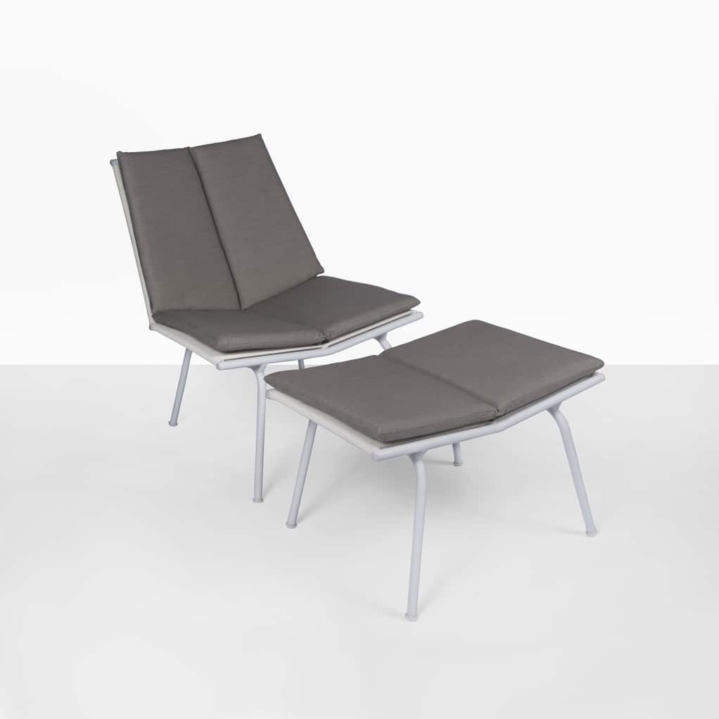Nordic Outdoor Relaxing Chair And Ottoman Design