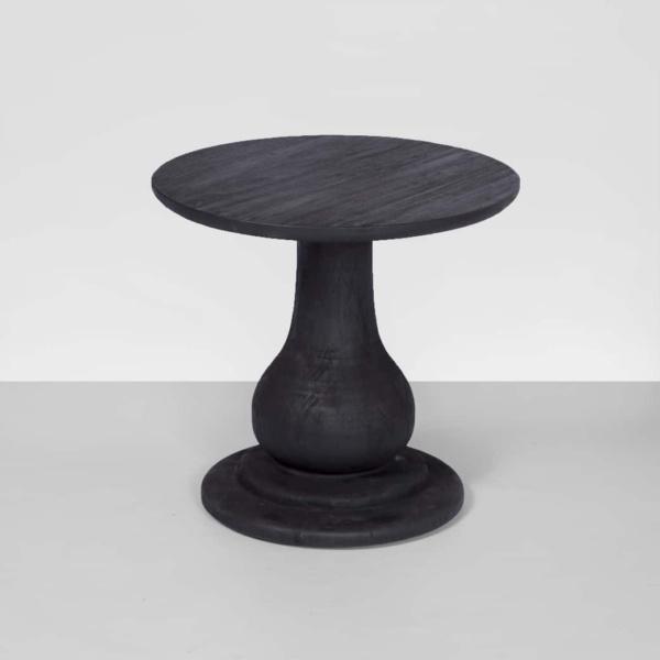 black table made of teak wood