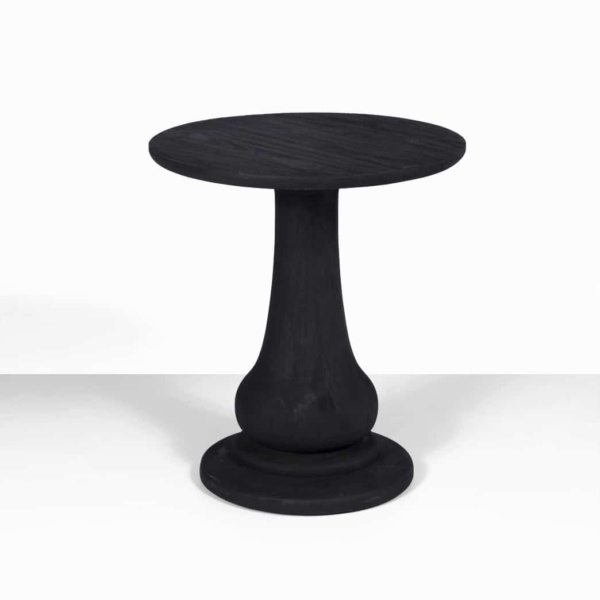sumatra outdoor black teak side table - contemporary furniture nz