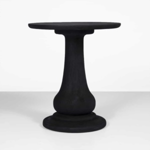 sumatra black outdoor side table tall