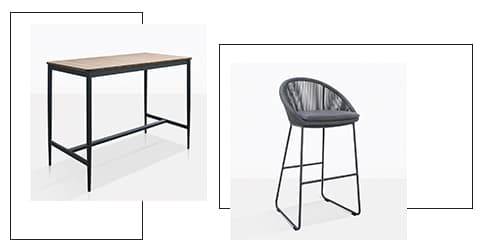 Urban counter height bar chair with Noble table