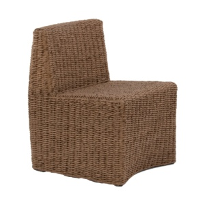 brown wicker side chair