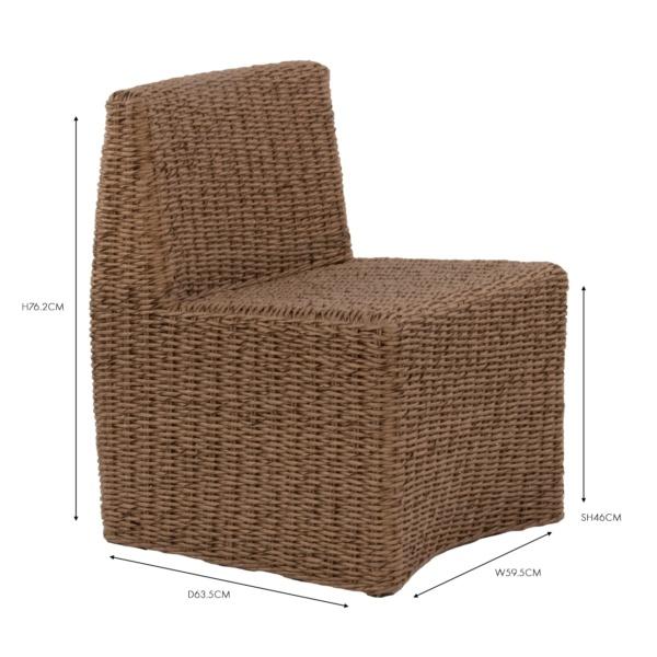 albert wicker dining chair