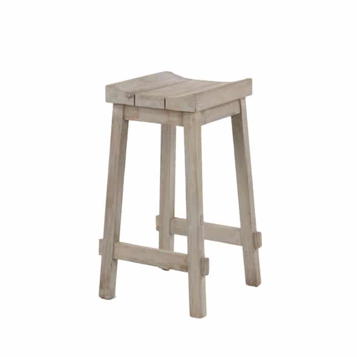 Alice teak stool - outdoor bar furniture nz