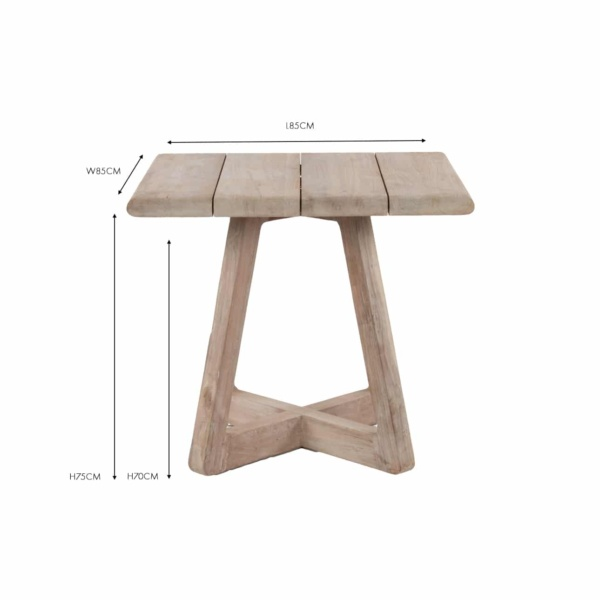 Angus reclaimed teak bistro table