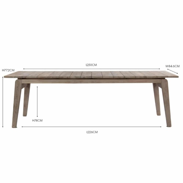 copenhague outdoor reclaimed teak dining table