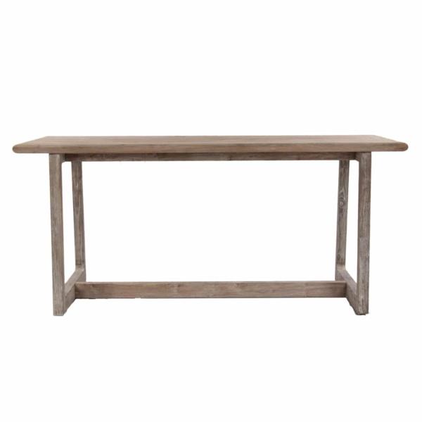 tall teak table
