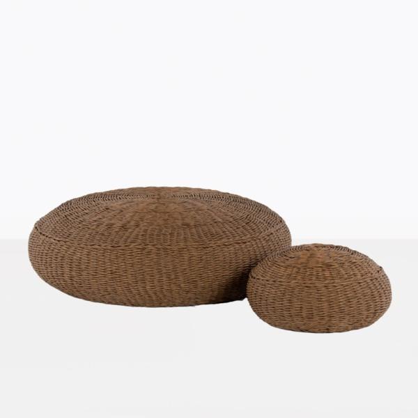Donut outdoor ottomans