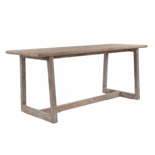 teak counter height bar table