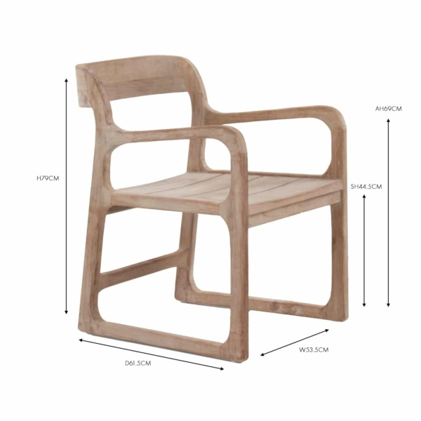Emily Reclaimed Teak Dining Arm Chair