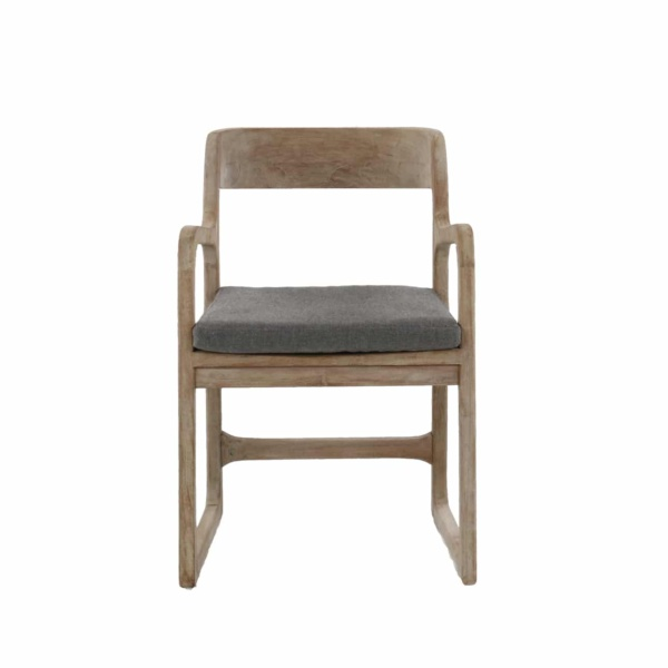 teak chair with arms and cushion - emily